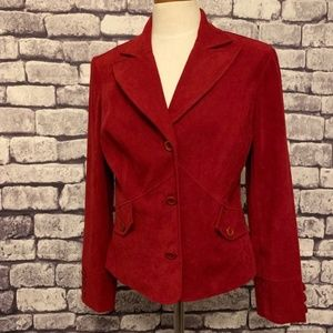 Red 3 Button Jacket Size 12